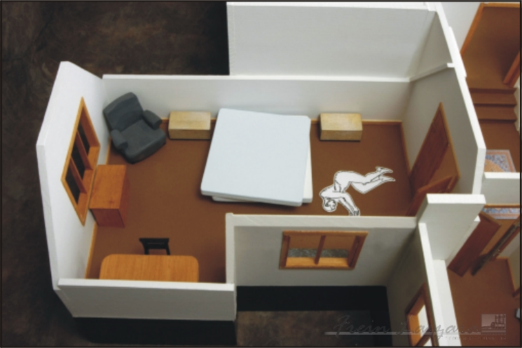 Interior scale model of Pelosi house
